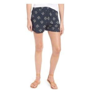 Drapey Pull On Shorts in Flowerstamp